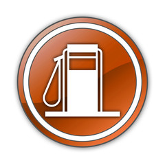 "Orange Glossy Button ""Fuel Dispenser"""