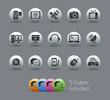 Communications Icons / The vector file includes 5 colors