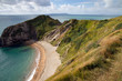 Bay and coastline next to Durdle Door Dorset