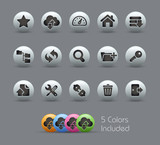 FTP & Hosting Icons  / The vector file includes 5 colors