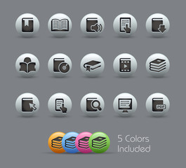 Book Icons  / The vector file includes 5 colors