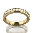 Wedding dIamond ring on white background - clipping path