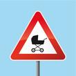 Schild Achtung Kinderwagen