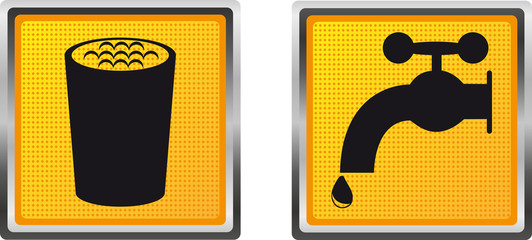 icons drinking water for design vector illustration