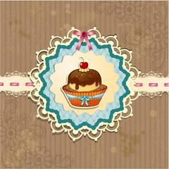 Dessert with cherry
