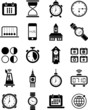 Clocks and time icons