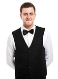 Young waiter portrait