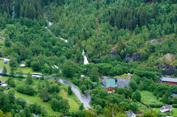 Scenic view of Geiranger Norway