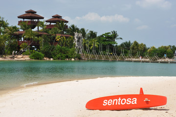 Southernmost point of continental Asia, Sentosa island, Singapor