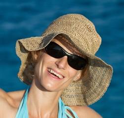 Femme en vacances