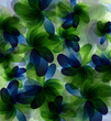 Abstract transparent flowers