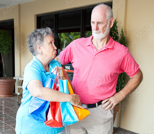 Guilty Senior Shopper and Husband