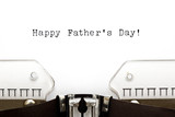 Typewriter Happy Fathers Day