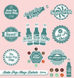 Vector Set: Retro Soda Pop Shop Labels and Badges