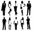 Collection of people silhouettes - 45462134