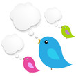 Birds With Cloud Speech Bubble