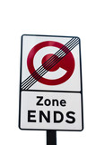 Congestion Zone Ends sign