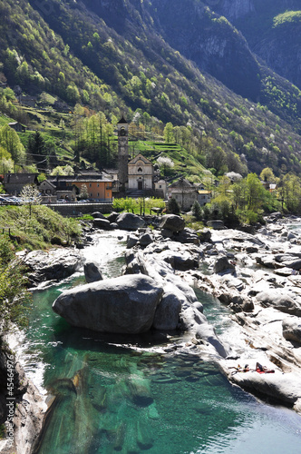 Lavertezzo village in Verzasca valley, Swtzerland