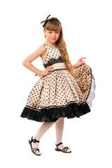 Lovely little girl in a dress