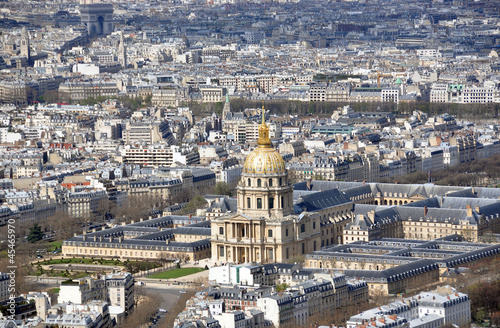 Aerial view of Les Invalides in Paris, France