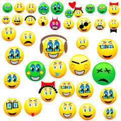 many emoticons