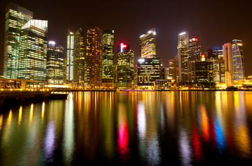 A view of Singapore business district