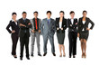 Portrait of a happy Asian Business team.
