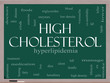 High Cholesterol Word Cloud Concept on a Blackboard