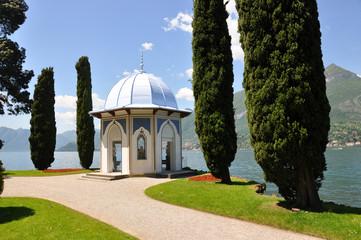 Garden of villa Melzi at the famous Italian lake Como