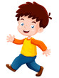 illustration of boy happy