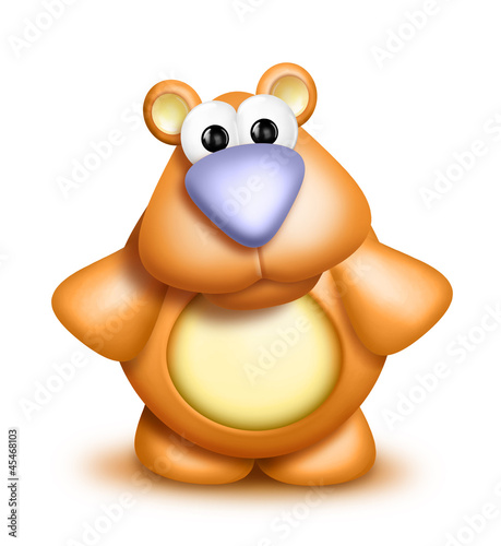 Whimsical Cute Cartoon Bear