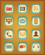 Vector Communication icons.