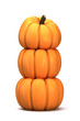 3d render of stacked pumpkins