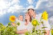 familie sonnenblumen