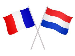 Drapeaux de l'alliance France Pays-Bas