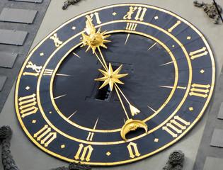 Ancient clock in Bern, Switzerland