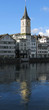 View to St. Peter's church in Zurich