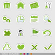 website stickers in 4 colors - icone web