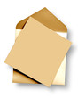 Golden  card and envelope.