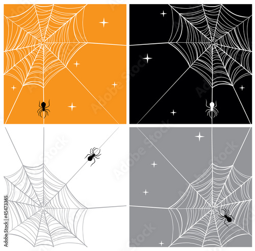 Vector Spider & SpiderWeb Backgrounds
