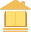 icon with house book - symbol education