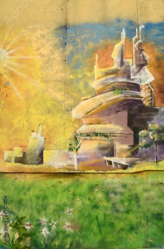 Fototapeten,graffiti,grossstadtherbst,wand,hintergrund