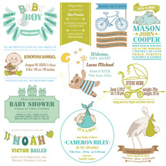 Baby Arrival and Shower Collection - for card design, scrapbook