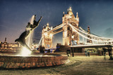 Scenic night view of Tower Bridge in all its magnificence - Lond poster