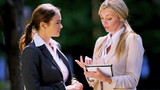 Young businesswomen using tablet