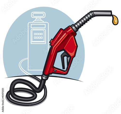 fuel pump with dispenser