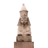 Granite sphinx in St.Petersburg isolated on white