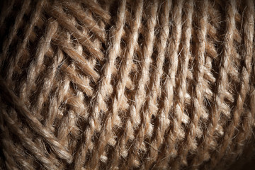 Closeup household string bundle texture