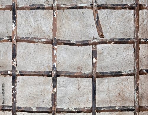Old broken iron lattice
