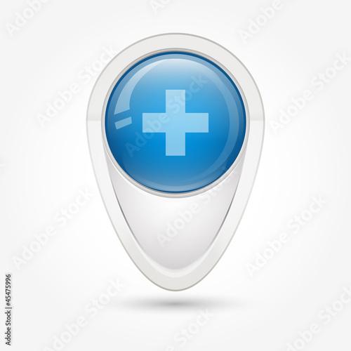 Puntatore 3D_blu croce